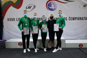 27th Aerobic Gymnastics Championship of Lithuania – first place and the ticket to the World Championship